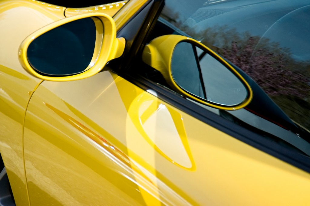 bright yellow car