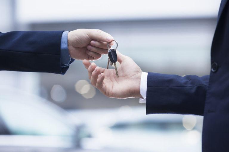 car keys handed over